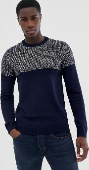 Contrast Knitted Jumper