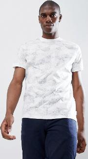 crew neck t shirt in geo floral print