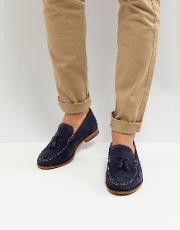 dougge suede loafers in navy