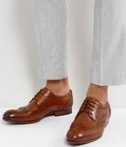 granet leather brogue shoes in tan