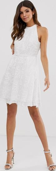 Iorene Embroidered Skater Dress