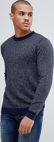 jumper with knitted stripe rib