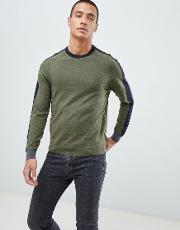 jumper with panel colour block