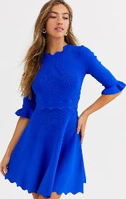Lauron Knitted Skater Dress