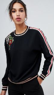 Maddeyy Embroidered Trim Shell Top