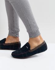 morris moccasin checked slippers