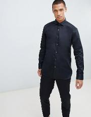 shirt with stretch in black