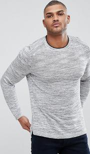 tall knitted crew neck jumper