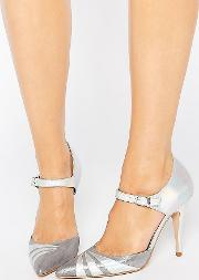 Fran Silver Irredescent Heeled Shoes