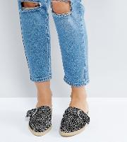 Spotted Flat Mules