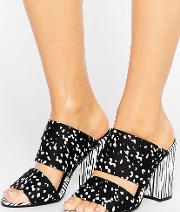 Strappy Heeled Mules