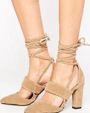 Tie Up Heeled Shoes
