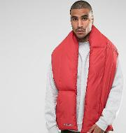 puffer scarf in red