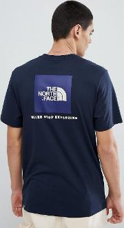 red box t shirt in navy