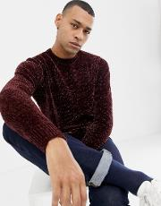 Chenille Knitted Jumper