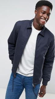 padded coach jacket with check inner