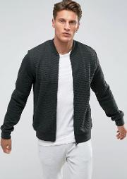 Quilted Zip Through Bomber Sweat