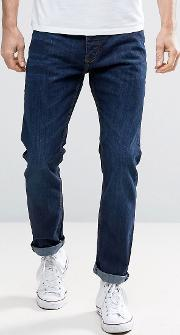 riley skinny fit mid wash jeans