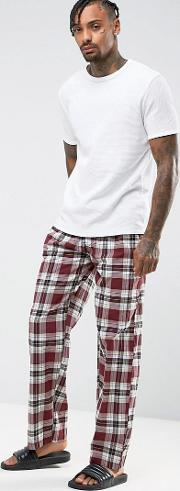pyjama check trousers