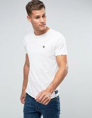 Crew Neck  Shirt With Chest Print