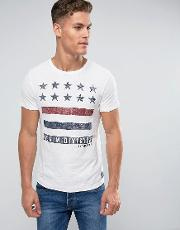 crew neck t shirt with print