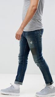 jeans in slim fit with patchwork