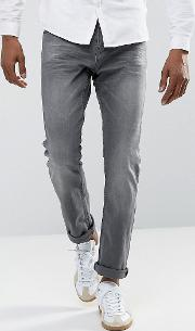 Slim Jeans With Stretch In Grey Wash