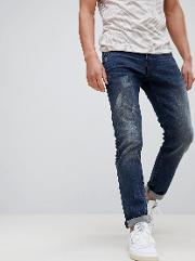 super slim jeans with distressing