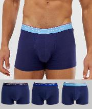 3 Pack Trunks With Contrast Waistband