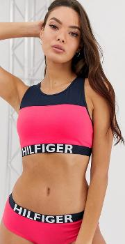 Bralette With Logo Banding