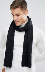 Cashmere Mix Scarf In Black