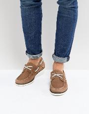 classic suede boat shoes in tan