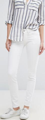 sophie low rise stay white skinny jean