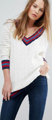 V Neck Cricket Jumper