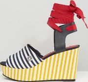 gigi hadid stripe wedge sandals rwb