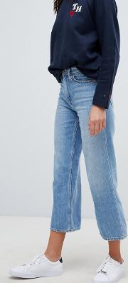 Tommy X Love Cropped Wide Leg Jeans