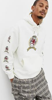 6.0 Limited Capsule Hoodie With Repeat Crest Logo