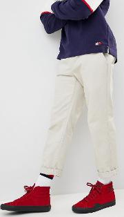 90s sailing capsule cropped tapered chinos  beige