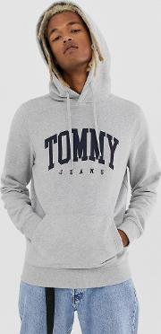 Essential Colleage Chest Logo Hoodie