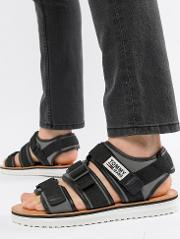 strap sandal in black