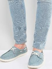 culver boat shoes in blue