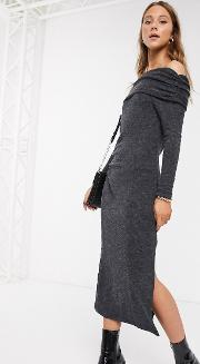 Bardot Knitted Midi Dress