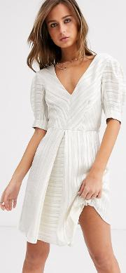 Burnout Mini Dress Ivory