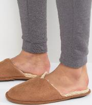 Mule Slippers In Beige