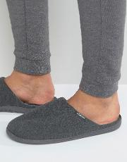 Stripe Mule Slipper In Grey