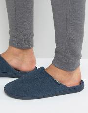 Stripe Mule Slipper In Navy