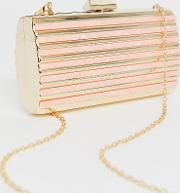 Gold And Resin Structured Clutch Bag