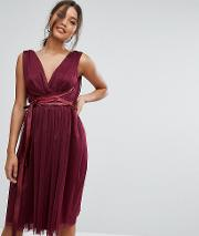 Midi Tulle Dress With Satin Band