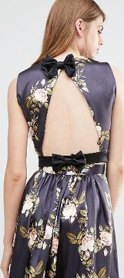 Open Back Top With Bow
