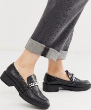 Chunky Flat Trim Loafers
